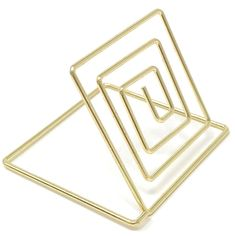 Wire Place Card Holder Stands with White Cards (20 sets) - Gold