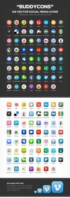 Social Media Icons - circles
