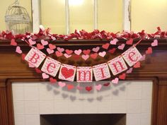 Valentine+Decoration+Valentines+Day+banner+Be+by+ClassicBanners,+$24.00