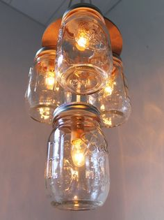 my love of mason jars and light combined into one great idea