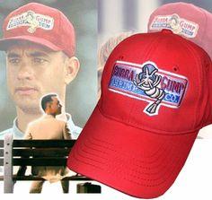 Bubba Gump Shrimp Co Hat Run Forrest Gump Tom Hanks Halloween party costume red  cap Forrest a022ab0561c6