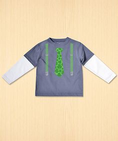 This Pewter Tie & Suspenders Layered Tee - Toddler & Boys is perfect! #zulilyfinds