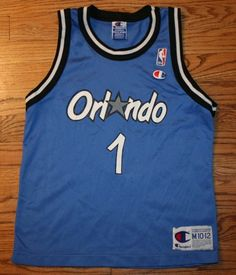 cecf48295 Vintage PENNY HARDAWAY  1 ORLANDO MAGIC CHAMPION JERSEY-Youth M 10-12-