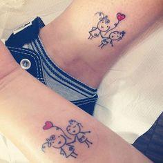 Para as mamães e/ou irmaos que queiram uma tatuagem de família.