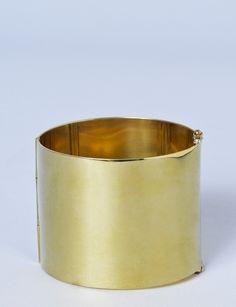 "A Detacher brass cuff bracelet - I want 2 of these so I can wear them 'wonder woman style!!"""