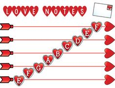 Love Notes: Valentines Day Theme Music... by Mrs Stouffer's Music Room | Teachers Pay Teachers