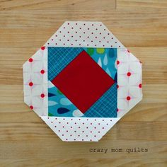 crazy mom quilts: how to make a pineapple block (without paper piecing!)