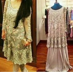 Pakistani hand crafted embriodered shirt with trouser or sharara