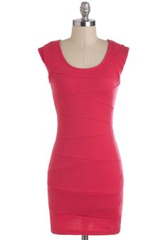 Wrapped with Care Dress - Pink, Solid, Girls Night Out, Short, Cap Sleeves, Sheath / Shift $52.99    classic, simple
