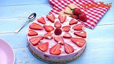 Tort Ramona cu capsuni fara coacere Kiwi, Camembert Cheese, Biscuit, Cheesecake, Dairy, Sweets, Desserts, Food, Pies