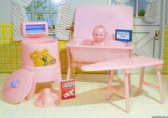 Renwal Wringer Washer Baby Doll Bathinette Vintage Dollhouse Ideal Marx Plasco   eBay