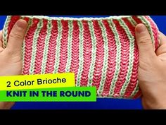 Video tutorial on how to knit the two-color Brioche in the round. Two color Brioche stitch creates a double thick fabric and is really very beautiful on both...