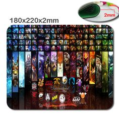 180*220*2mm/290*250*2mm  Dota 2 Mouse Pad Computador Mousepad Lager Gaming Rubber Gamer Mouse Anime Mouse Pad Retangular As Gift
