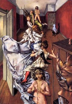 Anyone with kids can relate to this scene, I'm sure.  The Art of Dorothea Tanning