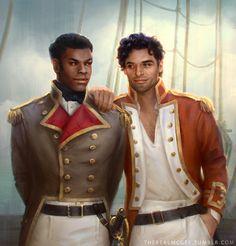 Star Wars Regency AU - Finn and Poe