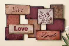 $26.99 #FREE SHIPPING Live Love Laugh Inspirational Metal Wall Art Home Decor Country Family Positive #Country