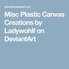 Misc Plastic Canvas Creations by Ladywohlf on DeviantArt