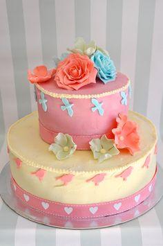 TheFoodClass: Butter cream iced birthday cake Stellenbosch