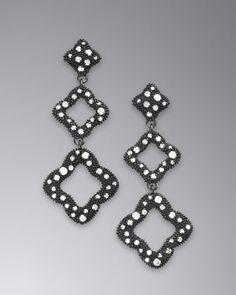 David Yurman Midnight Melange Earrings, Pave Diamonds - Neiman Marcus $1,950.00