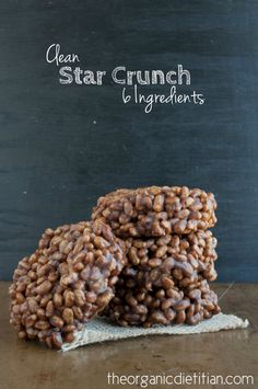 Clean Version Star Crunch (Only 6 Ingredients), #vegan #glutenfree #realfood - The Organic Dietitian