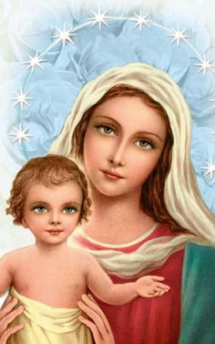 Jesus Mother, Blessed Mother Mary, Blessed Virgin Mary, Mother And Child, Jesus And Mary Pictures, Mary And Jesus, Catholic Art, Religious Art, Advent Scripture