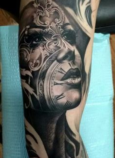 Our Website is the greatest collection of tattoos designs and artists. Find Inspirations for your next Clock Tattoo. Search for more Tattoos. Skull Tattoos, Leg Tattoos, Body Art Tattoos, Girl Tattoos, Octopus Tattoos, Buddha Tattoos, Dragon Tattoos, Finger Tattoos, Tatoos
