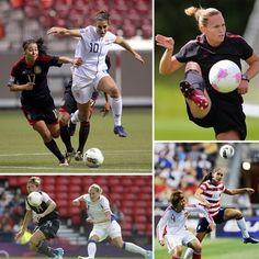Carli Lloyd, Christie Rampone, Alex Morgan, Abby Wambach