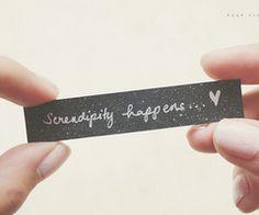 sweet serendipity...