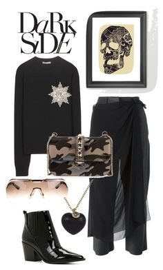 """""""TotalEclipsOfTheHeart"""" by ckk90210 ❤ liked on Polyvore featuring MM6 Maison Margiela, Alexander McQueen, ALDO, Valentino, Finn, Christian Dior and polyvoreeditorial"""