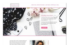 The perfect one page website for starting a business. Everything you need is here, to share information about your business. This website template is simple to set up - install, customize with your own text & images and you have a ready-made beautiful website to share. $15 #sponsored #ad