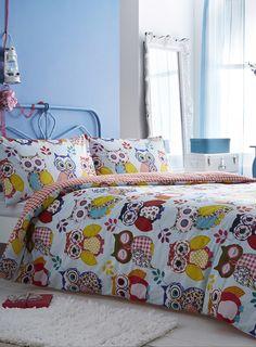 Summer Owl Bedding Set Pinned by www.myowlbarn.com