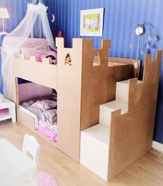 IKEA Canada will open its first pick-up-point store in London, Ont.IKEA President Stefan Sjöstrand said more Canadian locatio. Ikea Kura Hack, Ikea Hacks, Castle Bed, Kids Castle, Kura Bed, Princess Room, Princess Castle, Little Girl Rooms, Kid Beds