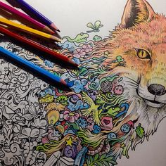 Suddenly got addicted colouring my #Animorphia author copies. Feels good to use colored pencils again after a million years!  ANIMORPHIA is an extreme colour and search book now available in Amazon.co.uk. Just search for 'animorphia'. Coming soon in local shops worldwide.