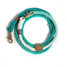 Nautical Rope Leash Teal Ombre by Found My Animal