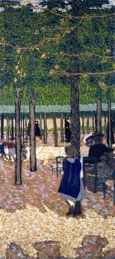 The Public Gardens - Under the Trees by Edouard Vuillard (French 1868-1940)