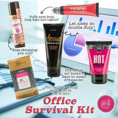 Perfectly Posh office survival kit. Tap the image to shop.