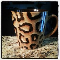 Found this little beauty at Marshalls!!! Luckiest find ever!  #leopard #mug