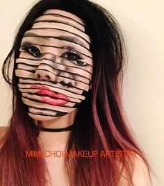 Incredible illusionistic makeup by @mimles #inspiration