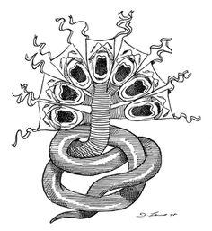Seven headed cobra symbol of the Symbionese Liberation