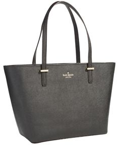 Kate Spade Small Harmony Cedar Street Black Tote Bag. Get one of the hottest styles of the season! The Kate Spade Small Harmony Cedar Street Black Tote Bag is a top 10 member favorite on Tradesy. Save on yours before they're sold out!