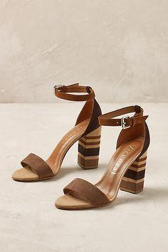 Vicenza Marcela Ankle Strap Cognac Stacked Heels (aff)