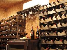 building a wine cellar in your basement   ... basement now houses the joyce family s wine collection displayed in