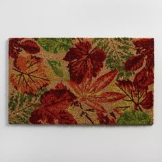 Fall Leaves Coir Doormat