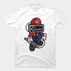 Mario is a T Shirt designed by MisfitInVisual and is available at Design By Humans Mario Brothers, Baseball Tees, Trending Fashion, Old School, Shirt Designs, Hoodies, Store, Mens Tops, T Shirt
