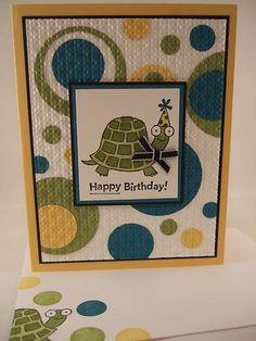 "Stampin Up ""Turtle Co"" Turtle Happy Birthday Handmade Card | eBay"
