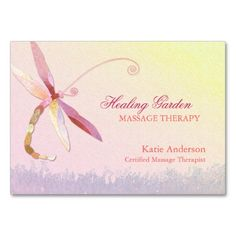 330 best massage business card templates images on pinterest red dragonfly massage therapist business cards colourmoves