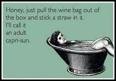 How about a straw in a bottle of wine?! :)