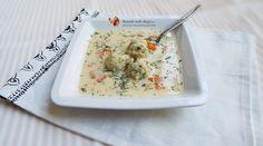 Ciorba cu perisoare de dovlecei a la grec gatita la Multicooker Crock-Pot Express Supe, Potato Salad, Crockpot, Slow Cooker, Cooking, Ethnic Recipes, Food, Greece, Meal