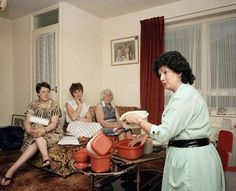 "Martin Parr, A Tupperware party, Manchester, England, from ""Home and Abroad"""