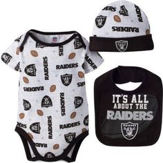 NFL Oakland Raiders Baby Boys Bodysuit e83e80772